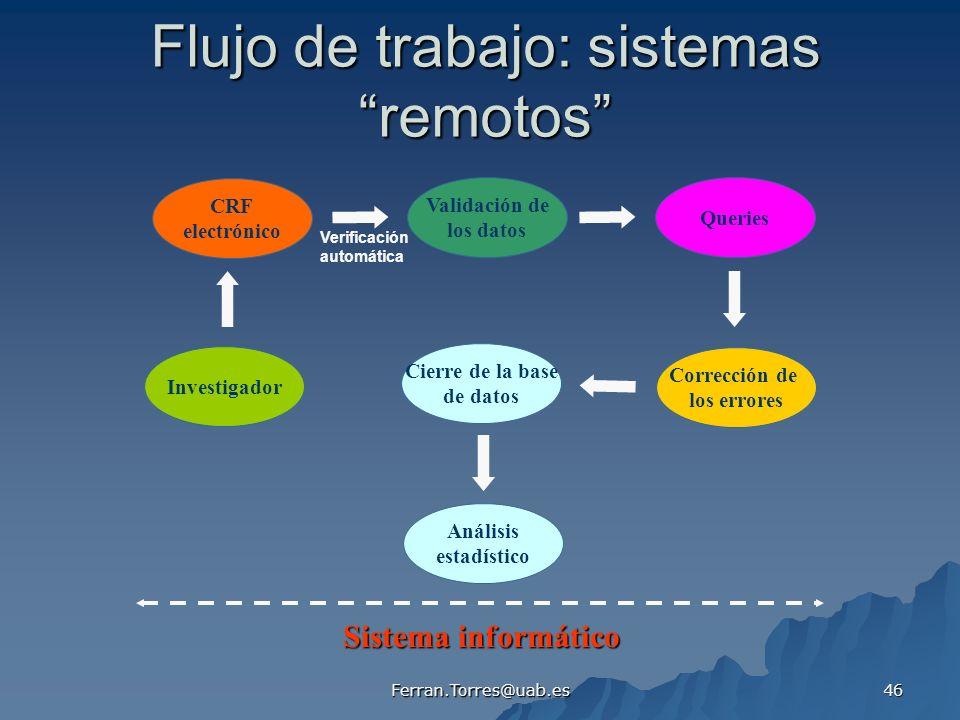 Flujo de trabajo: sistemas remotos