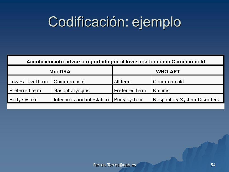 Codificación: ejemplo