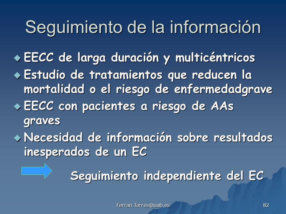 Seguimiento de la información