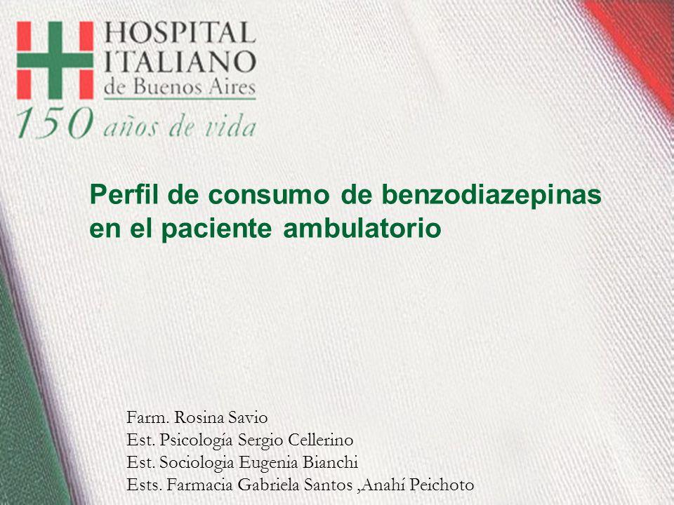 Perfil de consumo de benzodiazepinas en el paciente ambulatorio