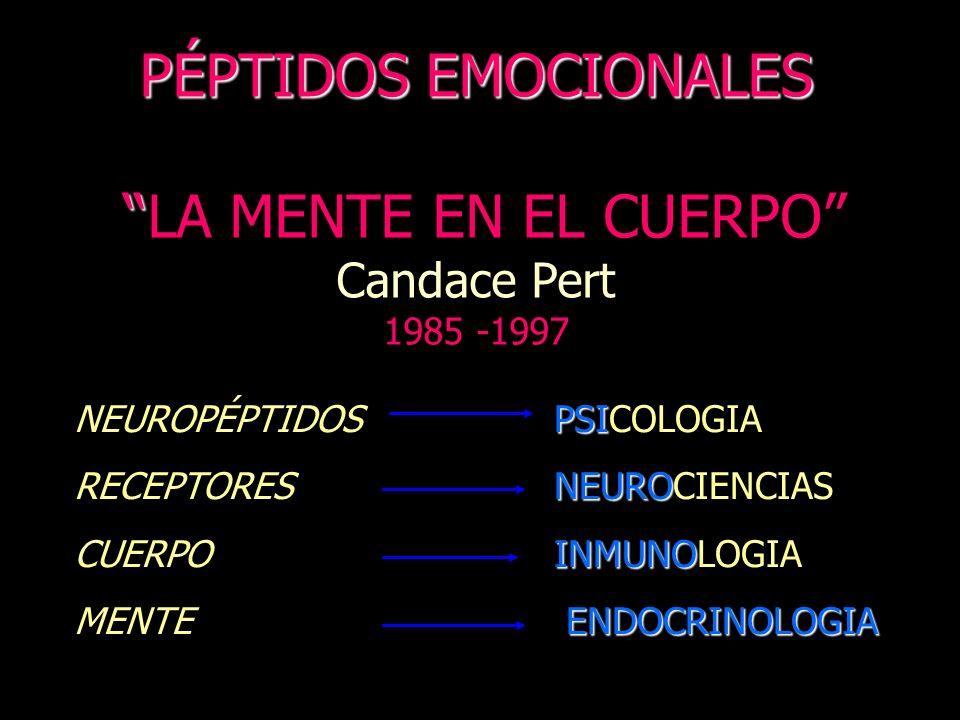 PÉPTIDOS EMOCIONALES LA MENTE EN EL CUERPO Candace Pert 1985 -1997