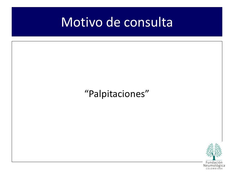 Motivo de consulta Palpitaciones