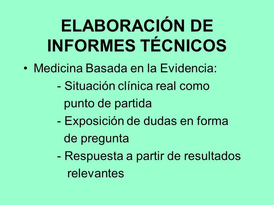 ELABORACIÓN DE INFORMES TÉCNICOS