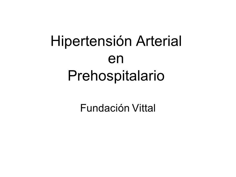 Hipertensión Arterial en Prehospitalario