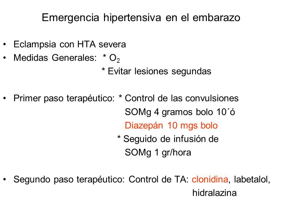 Emergencia hipertensiva en el embarazo