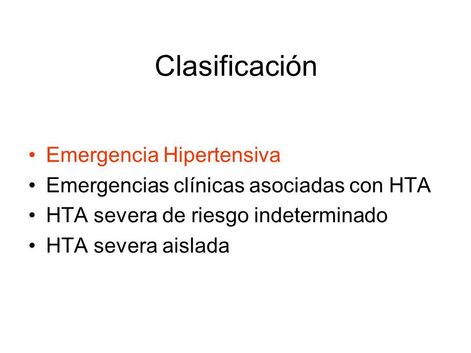 Clasificación Emergencia Hipertensiva
