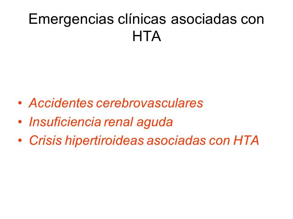 Emergencias clínicas asociadas con HTA