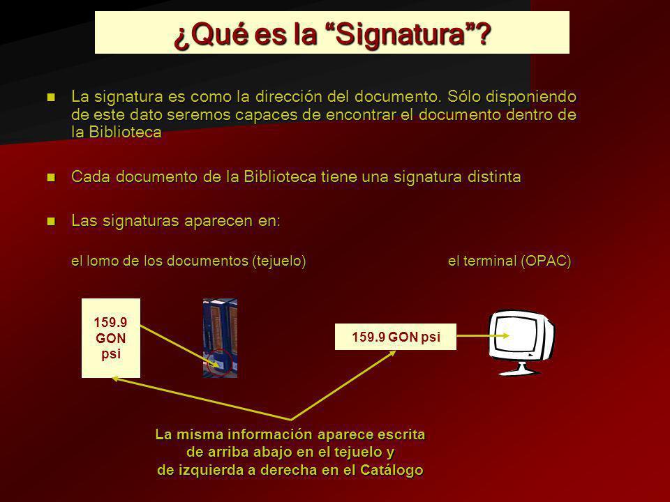 ¿Qué es la Signatura