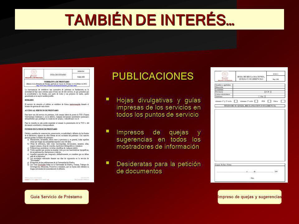 Guía Servicio de Préstamo Impreso de quejas y sugerencias