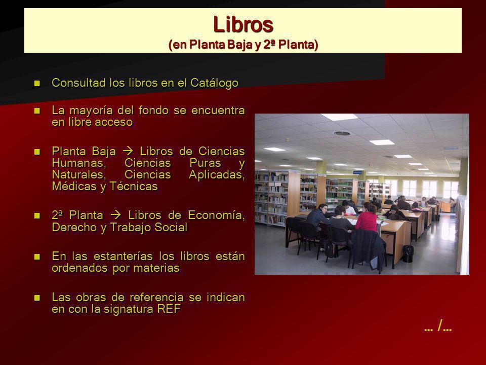Libros (en Planta Baja y 2ª Planta)