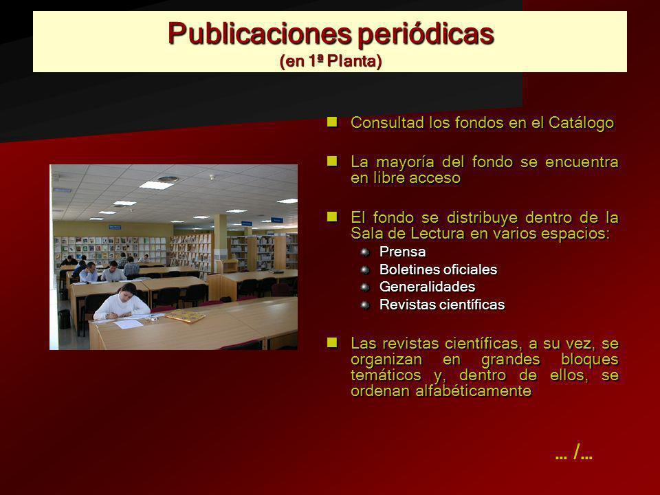 Publicaciones periódicas (en 1ª Planta)