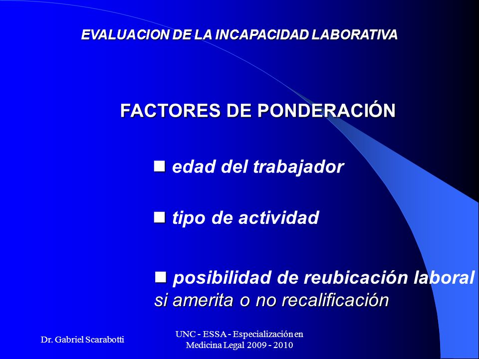UNC - ESSA - Especialización en Medicina Legal 2009 - 2010