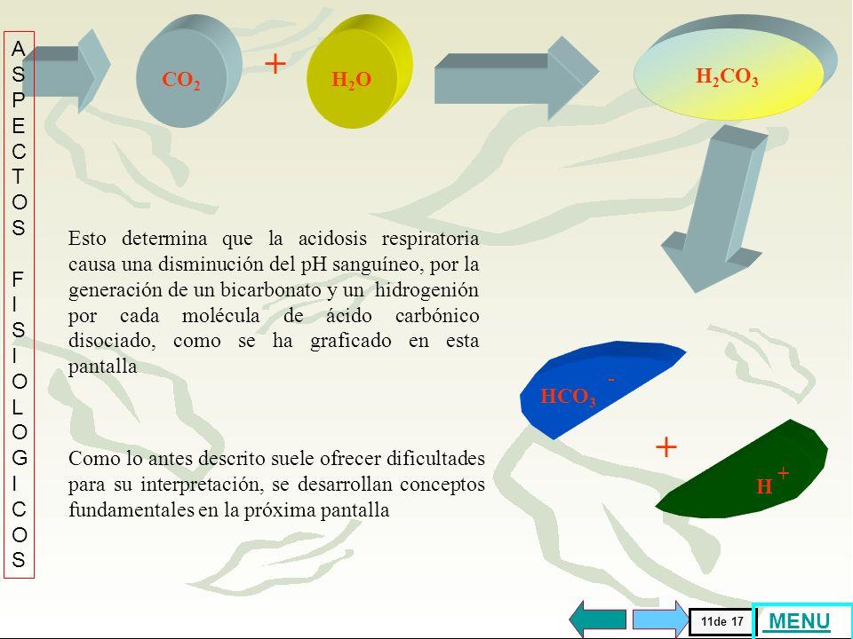 + + . ASPECTOS FISIOLOGICOS CO2 H2O H2CO3