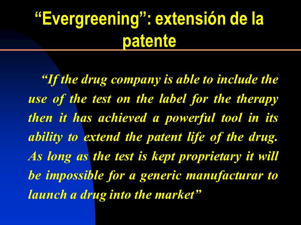 Evergreening : extensión de la patente