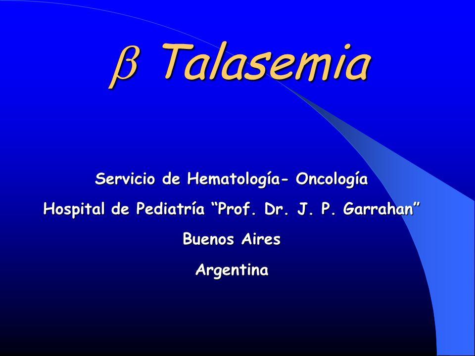b Talasemia Servicio de Hematología- Oncología