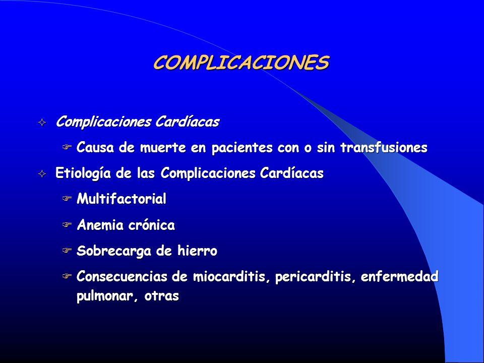 COMPLICACIONES Complicaciones Cardíacas
