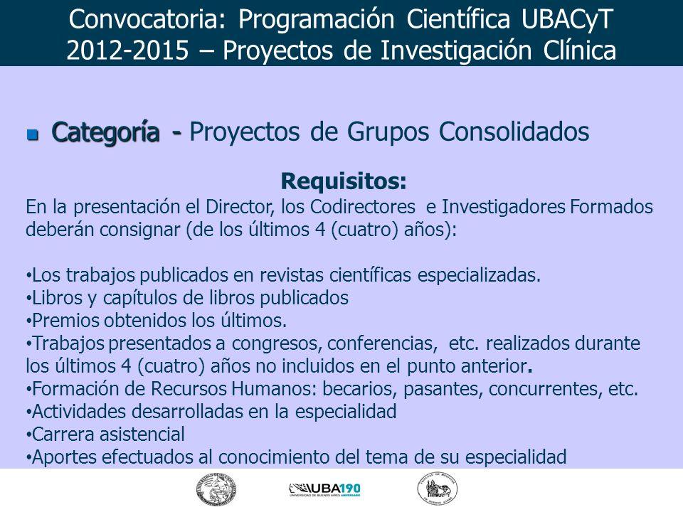 Convocatoria: Programación Científica UBACyT