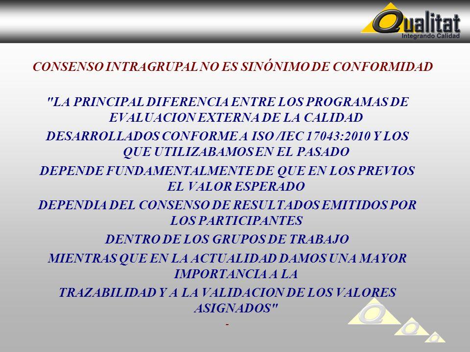 CONSENSO INTRAGRUPAL NO ES SINÓNIMO DE CONFORMIDAD