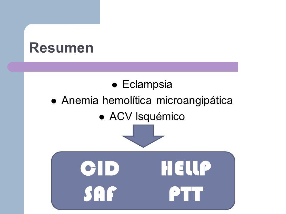 Anemia hemolítica microangipática