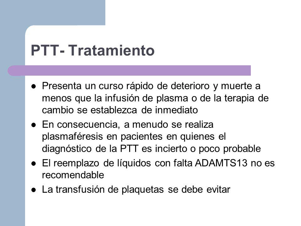 PTT- Tratamiento