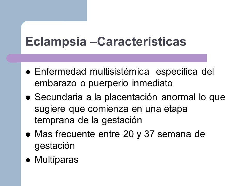 Eclampsia –Características
