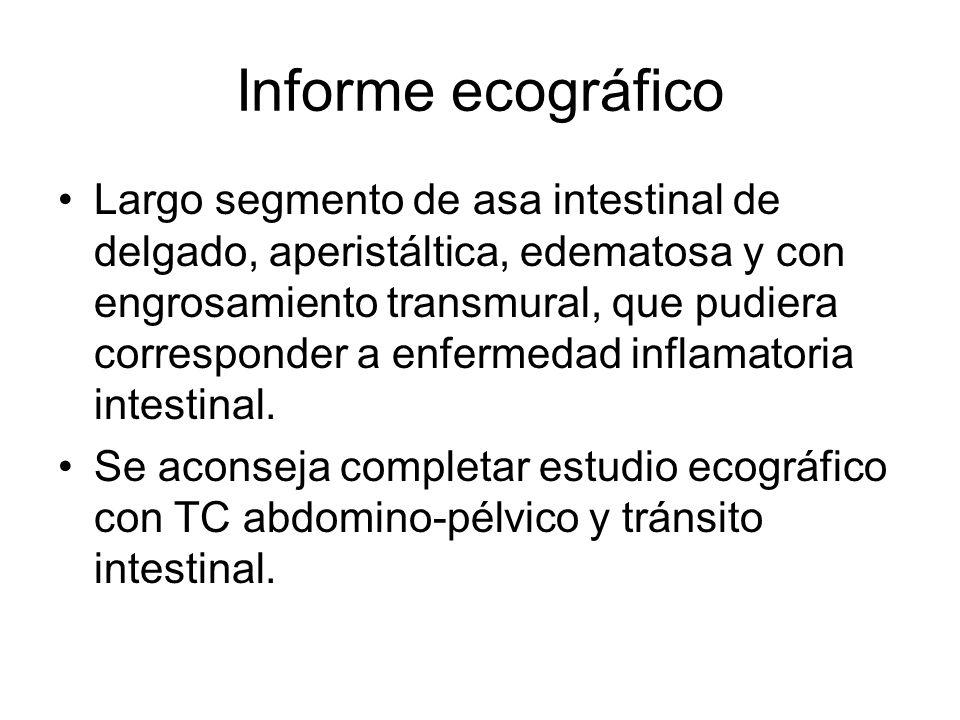 Informe ecográfico