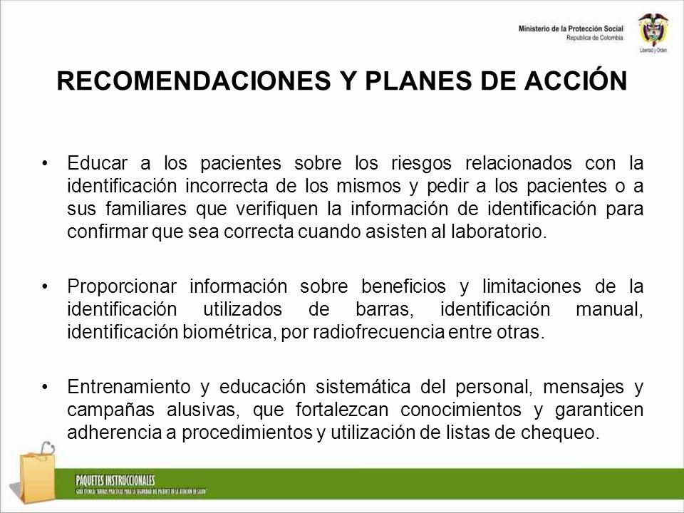 RECOMENDACIONES Y PLANES DE ACCIÓN