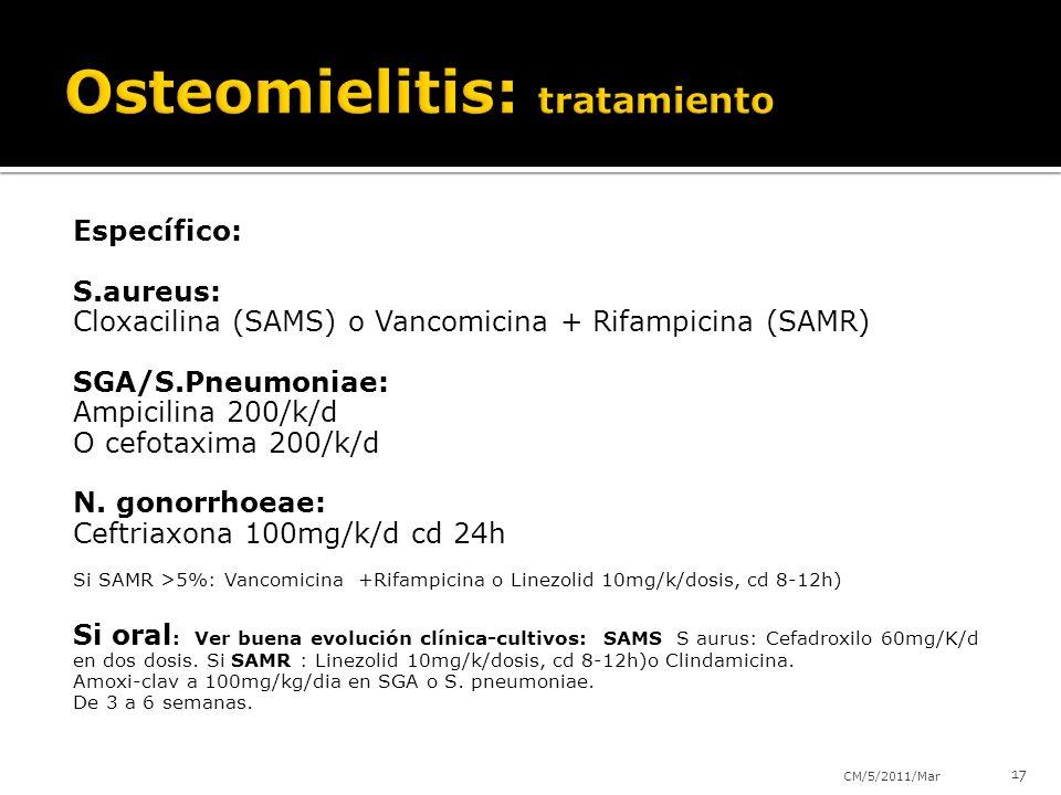 Osteomielitis: tratamiento