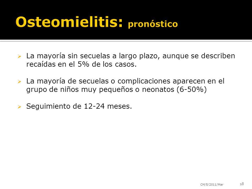 Osteomielitis: pronóstico