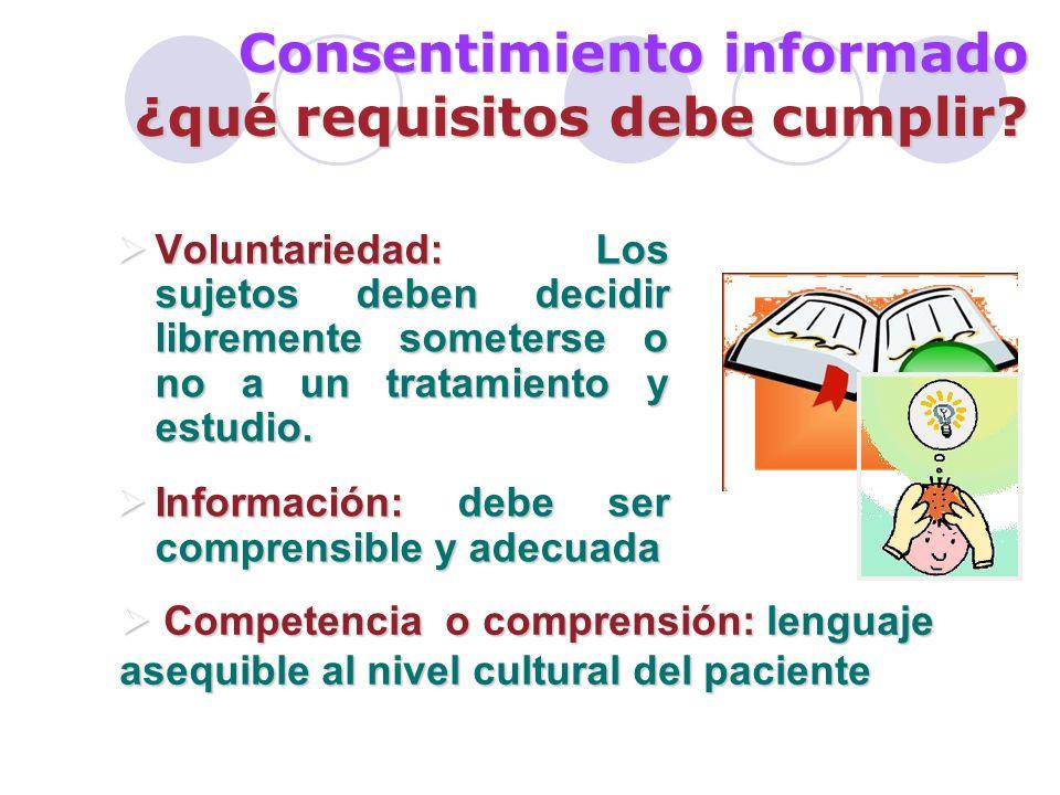 Consentimiento informado ¿qué requisitos debe cumplir