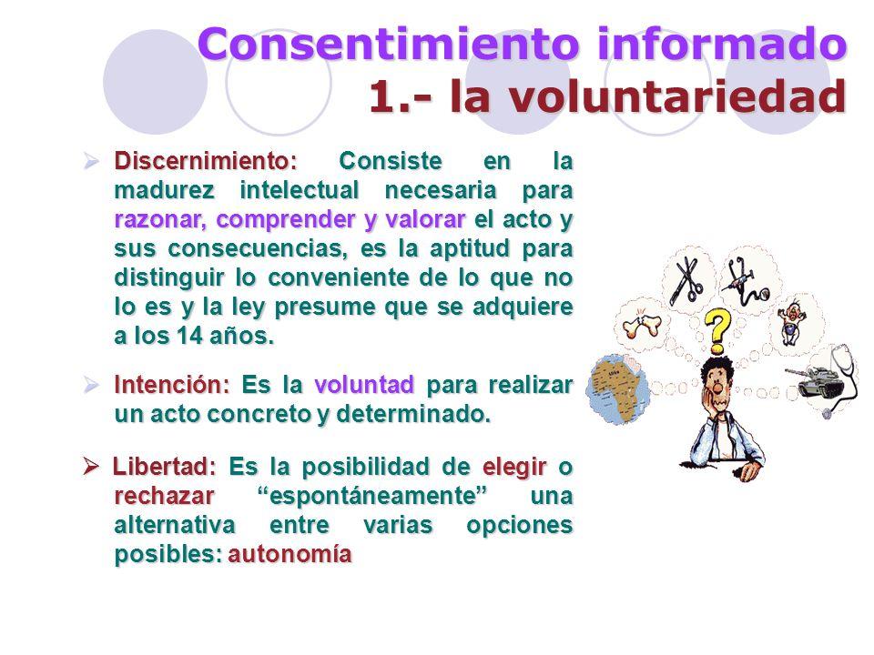 Consentimiento informado 1.- la voluntariedad
