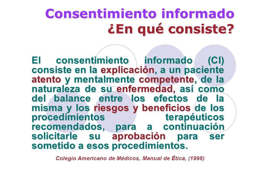 Consentimiento informado ¿En qué consiste