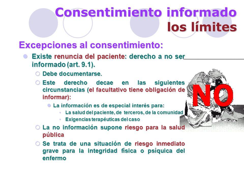 Consentimiento informado los límites
