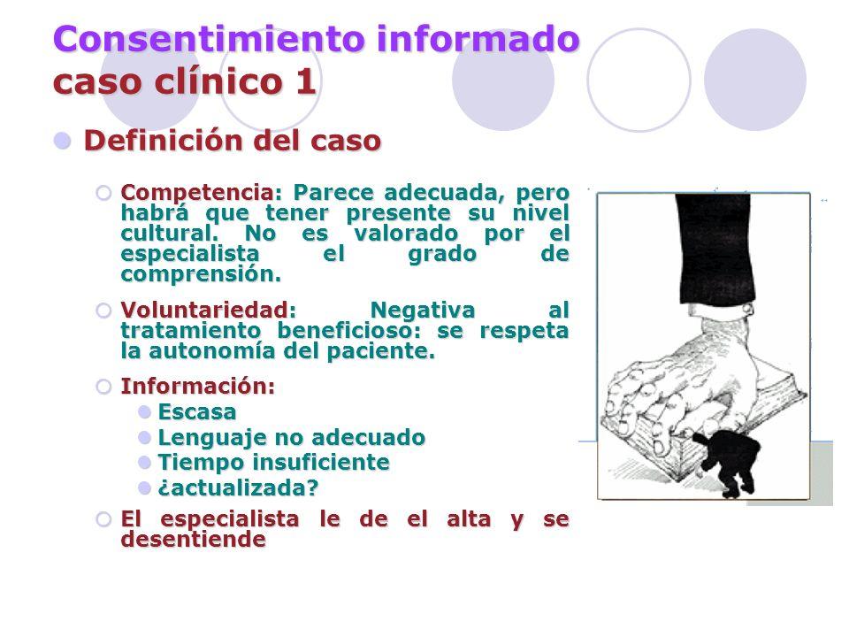Consentimiento informado caso clínico 1