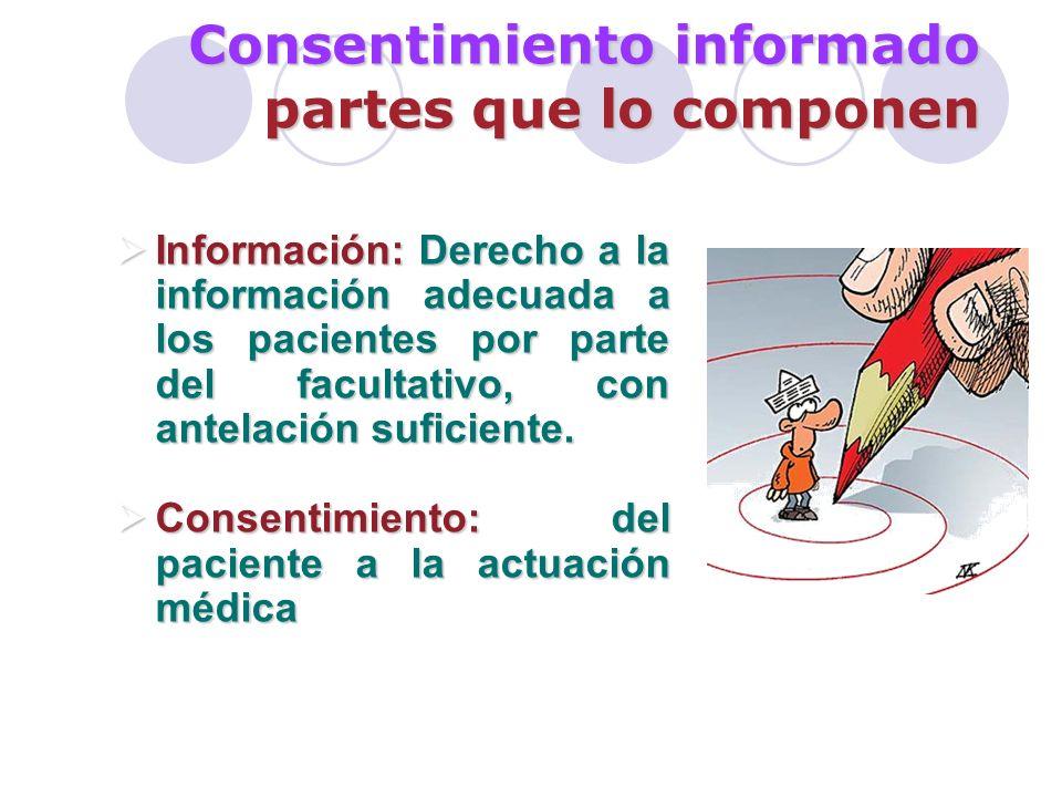 Consentimiento informado partes que lo componen