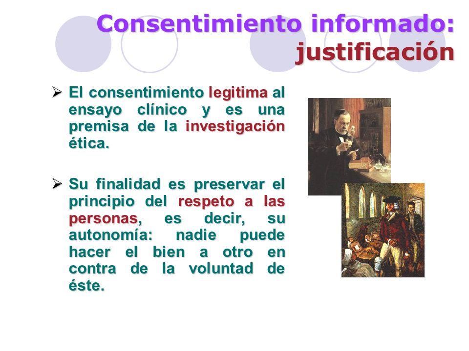 Consentimiento informado: justificación