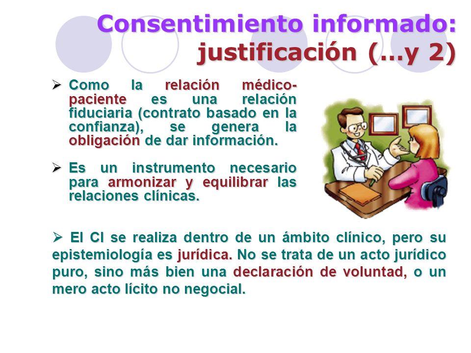 Consentimiento informado: justificación (…y 2)