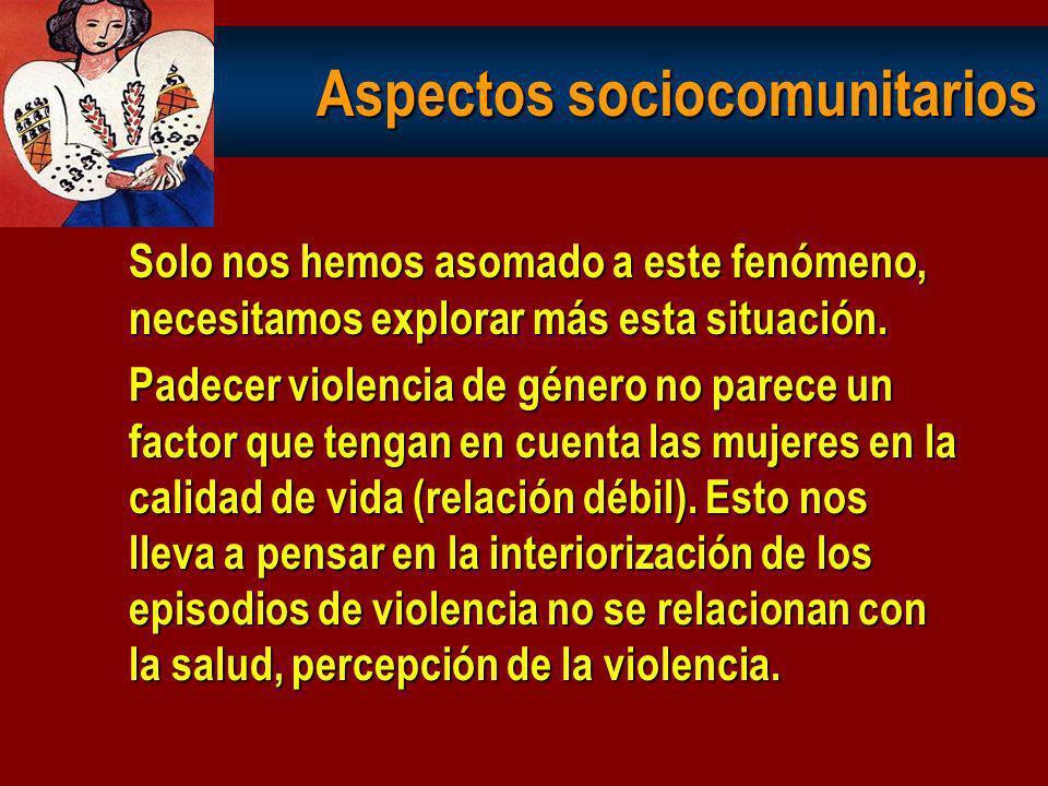 Aspectos sociocomunitarios