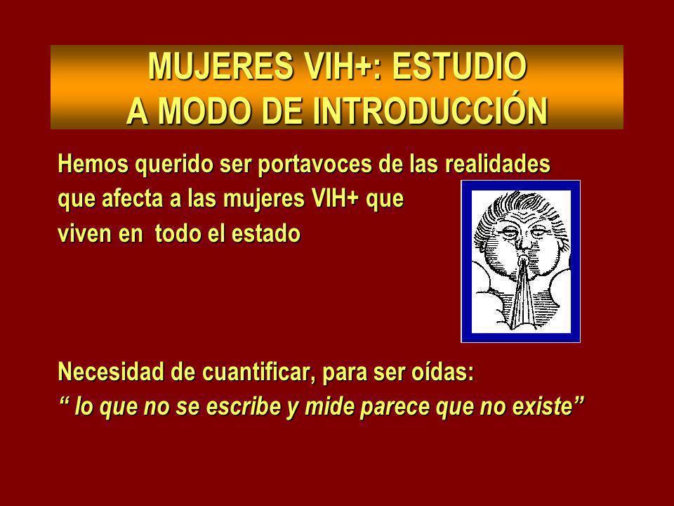 MUJERES VIH+: ESTUDIO A MODO DE INTRODUCCIÓN