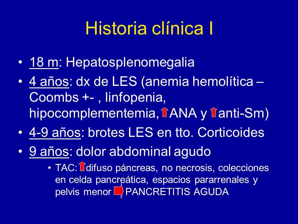Historia clínica I 18 m: Hepatosplenomegalia