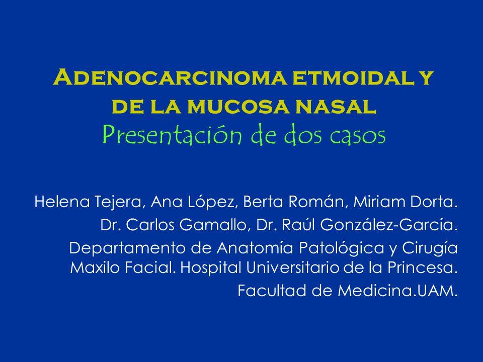 Adenocarcinoma etmoidal y de la mucosa nasal Presentación de dos casos