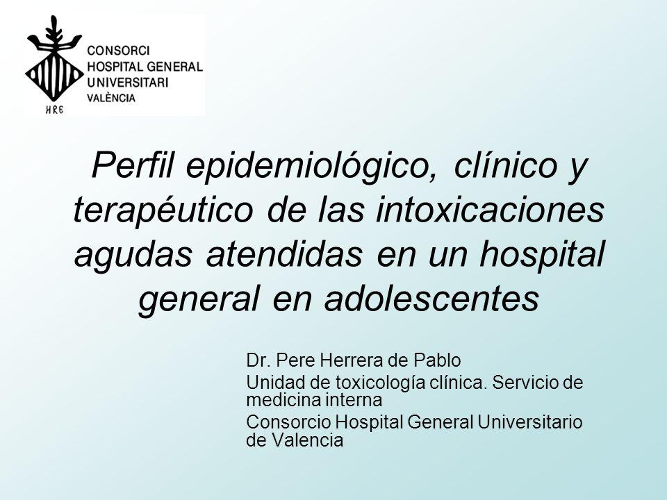 Perfil epidemiológico, clínico y terapéutico de las intoxicaciones agudas atendidas en un hospital general en adolescentes