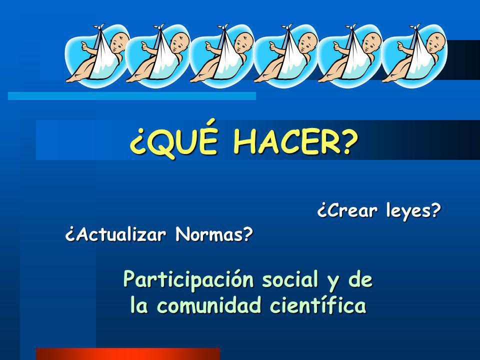 Participación social y de la comunidad científica