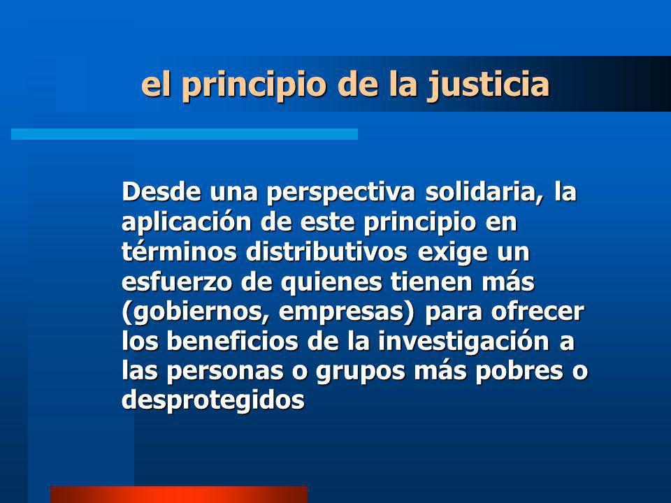 el principio de la justicia