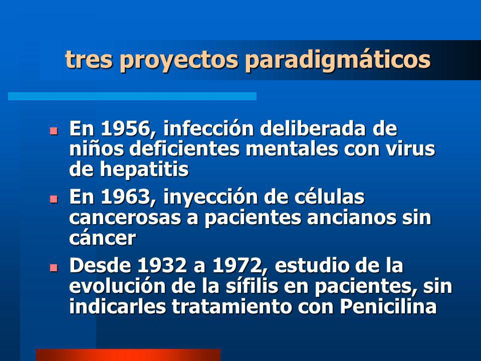 tres proyectos paradigmáticos