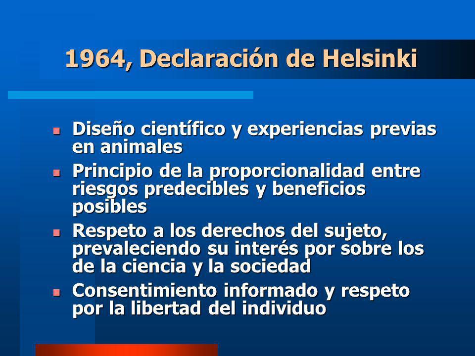 1964, Declaración de Helsinki