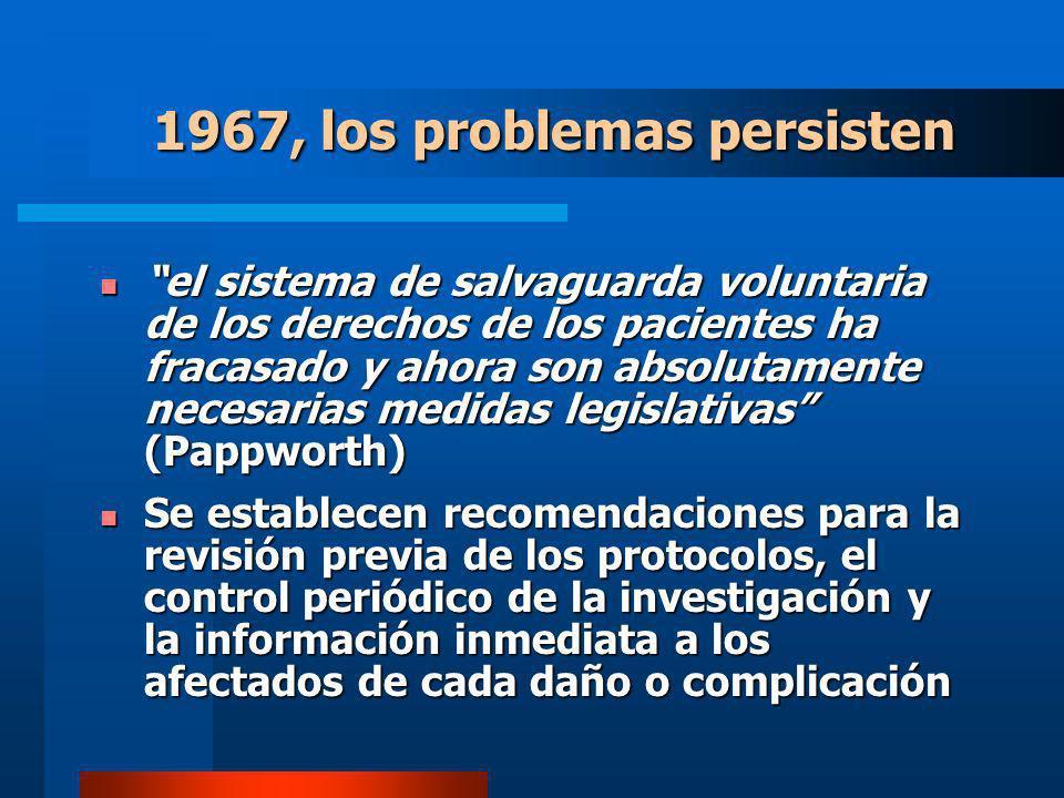 1967, los problemas persisten