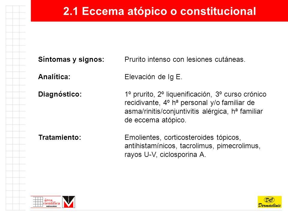 2.1 Eccema atópico o constitucional