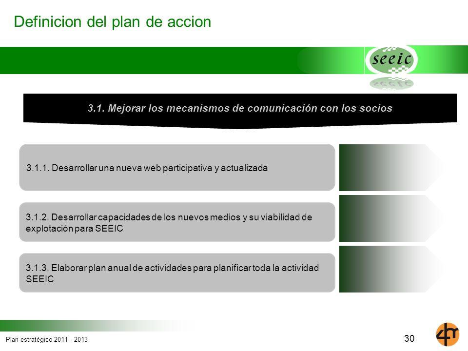 3.1. Mejorar los mecanismos de comunicación con los socios