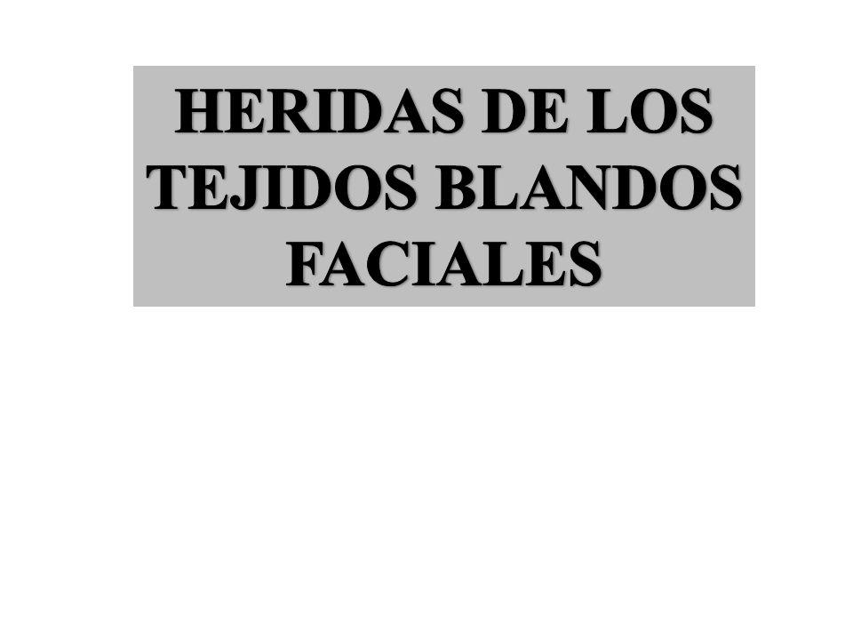 HERIDAS DE LOS TEJIDOS BLANDOS FACIALES